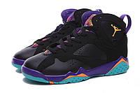 Женские  баскетбольные кроссовки Air Jordan Retro 7 (Black/Multicolor), фото 1