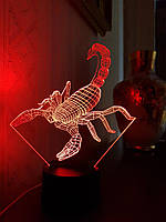3D светильник 3DTOYSLAMP Скорпион