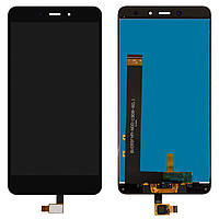 Дисплей (LCD) Xiaomi Redmi Note 4 MediaTek с сенсором чёрный + рамка