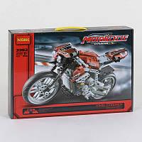 """Конструктор 3353 (12) Decool """"Мотоцикл"""", 431 деталь, в коробке"""