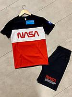 Летний мужской костюм футболка шорты nasa / Футболка шорти чоловічі