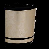 Пластиковый горшок для пересадки цветов с подставкой ПІ-125-09