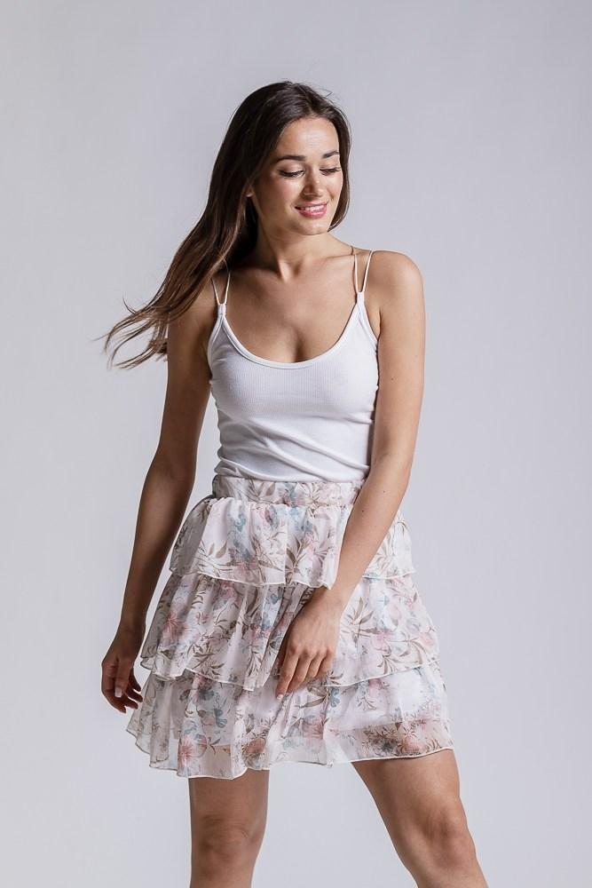 Женская летняя юбка (Белая)