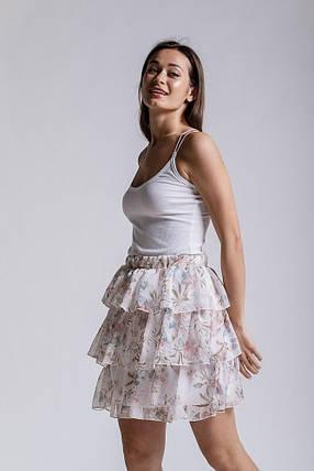 Женская летняя юбка (Белая), фото 2