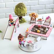 """""""Детская площадка"""" набор кукольной мебели NestWood для LOL, розовый, фото 3"""
