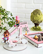"""""""Детская площадка"""" набор кукольной мебели NestWood для LOL, розовый, фото 5"""