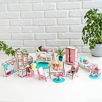 """""""Спальня+гостиная+детская"""" набор кукольной мебели NestWood для LOL, розовый"""