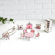 """""""Кухня+ванная"""" набор кукольной мебели NestWood для LOL, розовый, фото 4"""