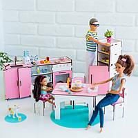"""""""Кухня"""" набор кукольной мебели NestWood для Барби, бело-розовая"""
