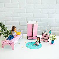 """""""Спальня"""" набор кукольной мебели NestWood для Барби, бело-розовая"""