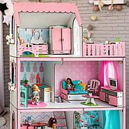 """""""ЛЮКС ЛАЙТ"""" кукольный домик NestWood для Барби, без мебели, розовый, фото 2"""