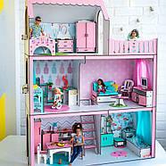 """""""ЛЮКС ЛАЙТ"""" кукольный домик NestWood для Барби, без мебели, розовый, фото 5"""