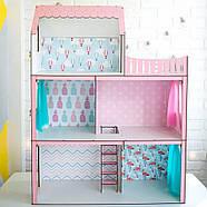"""""""ЛЮКС ЛАЙТ"""" кукольный домик NestWood для Барби, без мебели, розовый, фото 6"""