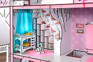 """""""ЛЮКС ЛАЙТ"""" кукольный домик NestWood для Барби, без мебели, розовый, фото 8"""