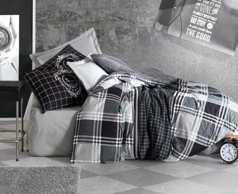Постельное белье 2-спальное евро COTTON BOX Ramos Antrasit