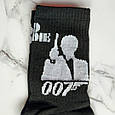 Носки джеймс бонд 007 чёрные размер 36-44, фото 3