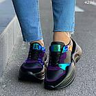 Женские черные кроссовки, экокожа 39 ПОСЛЕДНИЙ РАЗМЕР, фото 4