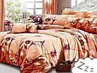 Комплект постельного белья Хлопковый Сатин NR A325 Collection World 7506 Оранжевый, фото 2