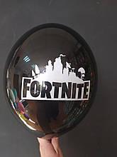 """Латексна кулька з малюнком Fortnite чорний 025 12"""" 30см Belbal ТМ """"Star"""""""