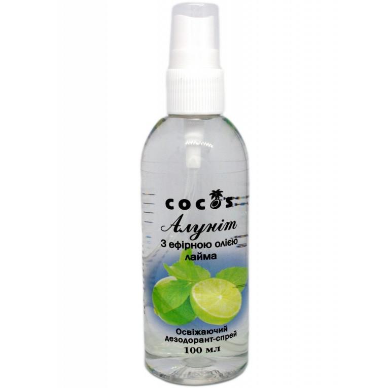 Алуніт Cocos з ефірною олією Лайму (дезодорант-спрей) 100 мл