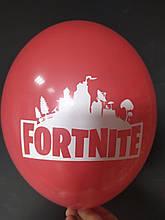 """Латексна кулька з малюнком Fortnite червоний 001 12"""" 30см Belbal ТМ """"Star"""""""