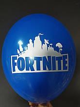 """Латексна кулька з малюнком Fortnite синій 022 12"""" 30см Belbal ТМ """"Star"""""""