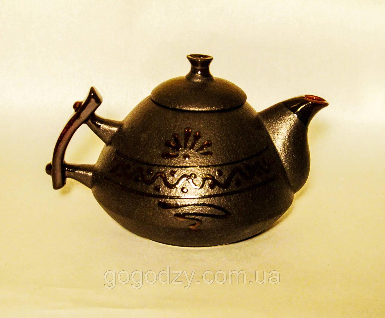 """Чайник """"Ґорґани"""" чорний"""