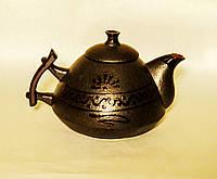 """Чайник """"Ґорґани"""" чорний, фото 1"""