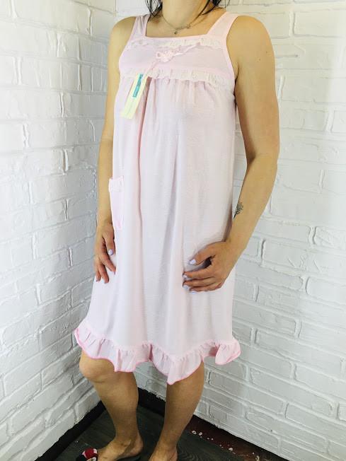 Жіноча нічна сорочка бавовна рожевий 262 42-46