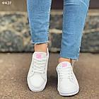 Женские кроссовки цвет белый, экокожа, фото 2