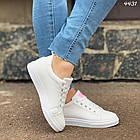 Женские кроссовки цвет белый, экокожа, фото 3