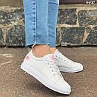 Женские кроссовки цвет белый, экокожа, фото 5