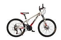 """Велосипед Oskar24""""M16021 белый (рама - сталь, переключатели Snimano)"""