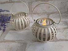 Подсвечник металлический для декора, h-6,5см (без ручки), 75/65 (цена шт. + 10 грн)