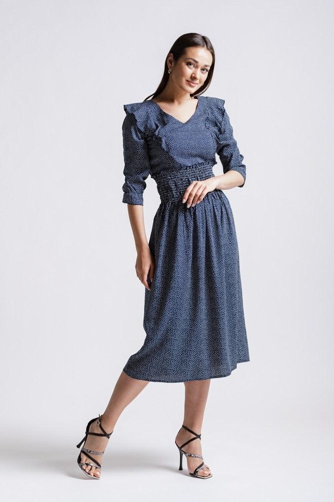 Женское легкое платье миди