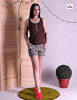 Пижама женская летняя майка с шортами для беременных 42-54