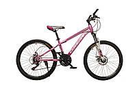 """Велосипед Oskar 24""""M16021 фиолетовый (рама - сталь, переключатели Snimano)"""