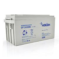 Акумуляторна батарея MERLION AGM GP12650M6 12 V 65 Ah 18 кг ( 350 x 165 x 174 )  White Q1