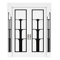 Межкомнатная дверь Casa Verdi  Conte 5 МДФ белая с черными вставками