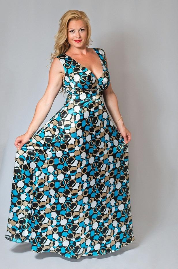 Женское вечернее платье в пол (50-60) 8031