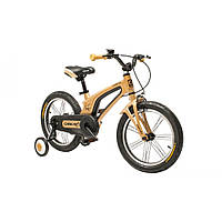 """Велосипед Oskar 16""""-UK601  золотой (рама - магниевая, с дополнительными колесиками)"""