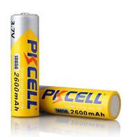 Акумулятор 18650 PKCELL 3.7V 18650 2600mAh Li-ion rechargeable batery 1 шт в блістері, ціна за блістер, Q20