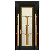 Межкомнатная дверь Casa Verdi  Conte 8 из массива ольхи черная