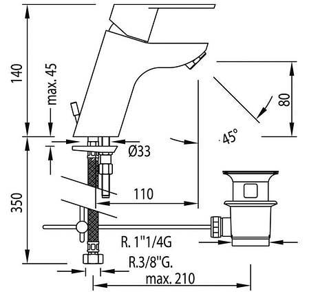 Змішувач для раковини TRES BM-139103, фото 2