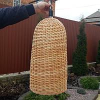 Плетеный абажур из лозы не обычная форма, фото 1