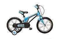 """Велосипед Oskar 16""""-UK601  синий (рама - магниевая, с дополнительными колесиками)"""