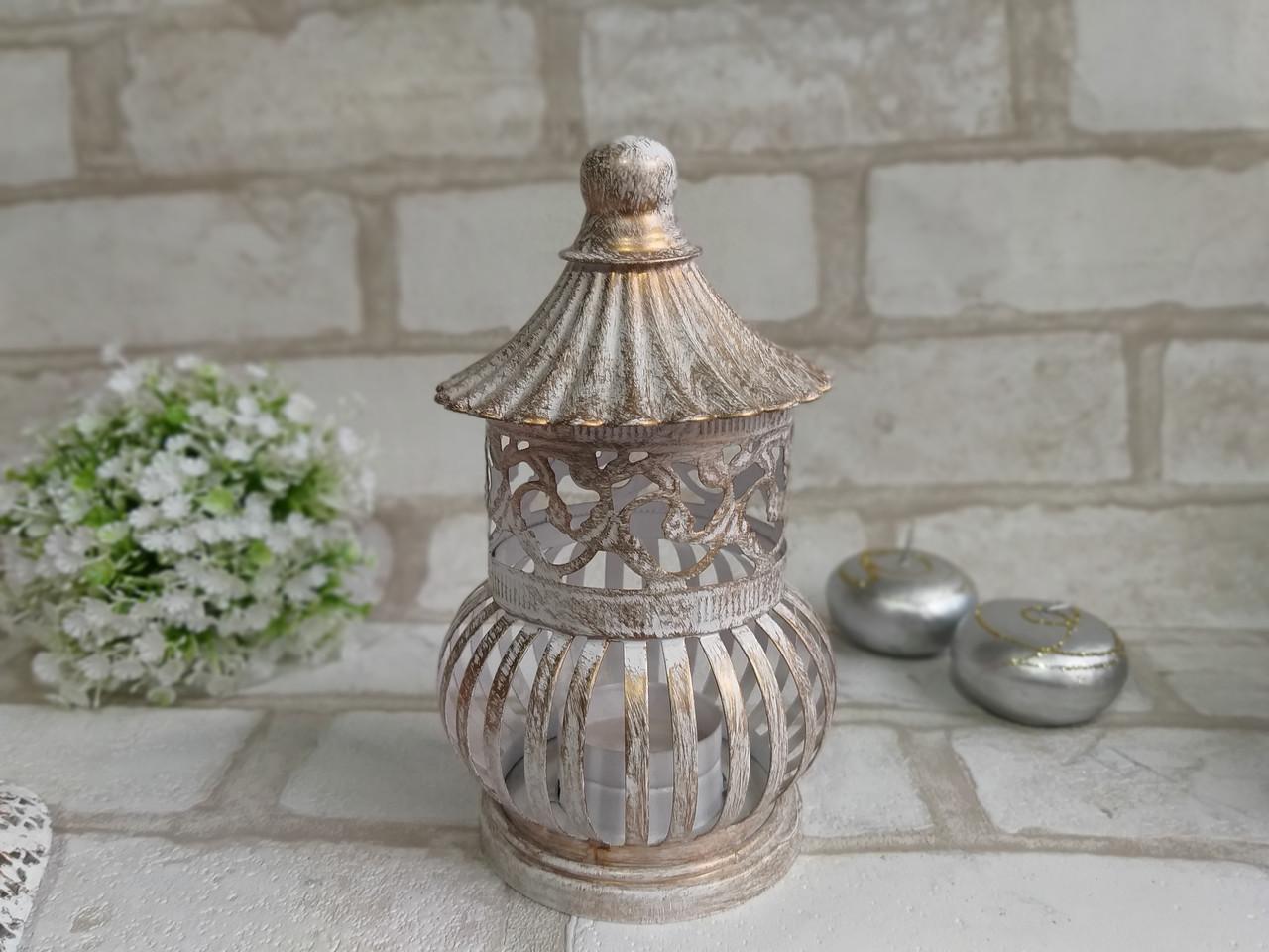 Металлический фонарь-подсвечник, 16 см, 215/184 (цена за 1 шт. + 31 гр.)