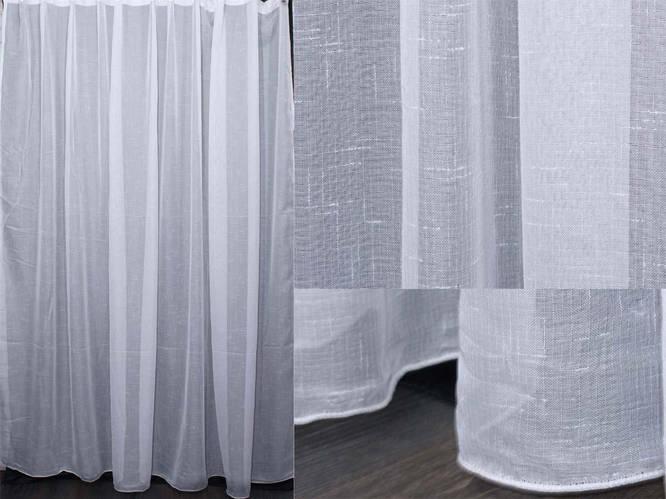 Тюль под лен с утяжелителем цвет белый арт 10013 цепочки крупные бижутерия купить