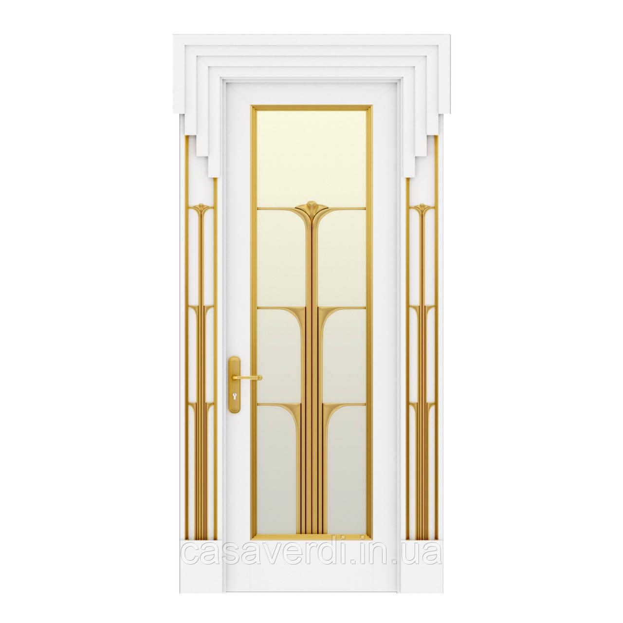 Межкомнатная дверь Casa Verdi  Conte 9 из массива ольхи белая
