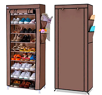 Стеллаж для хранения обуви Shoe Cabinet 160x60х30 | Полка для обуви | Тканевый стеллаж для обуви